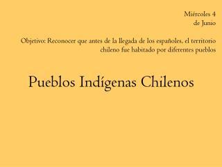 Pueblos Ind genas Chilenos