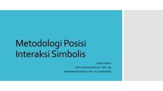 Metodologi Posisi Interaksi Simbolis