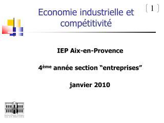 Economie industrielle et compétitivité
