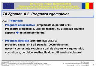 TA Zgomot  A.2  Prognoza zgomotelor