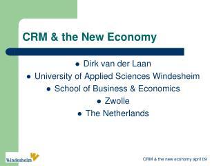 CRM & the New Economy