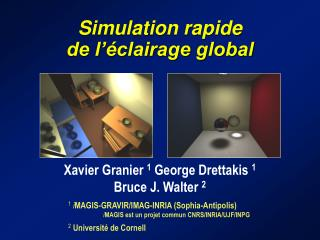 Simulation rapide  de l'éclairage global