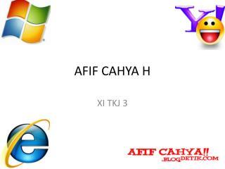 AFIF CAHYA H