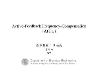 Active-Feedback Frequency-Compensation (AFFC)
