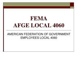 FEMA AFGE LOCAL 4060