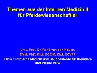Themen aus der Internen Medizin II f r Pferdewissenschaftler