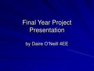 Final Year Project Presentation