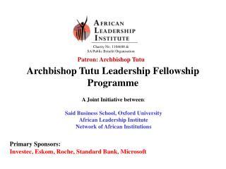 Archbishop Tutu Leadership Fellowship Programme