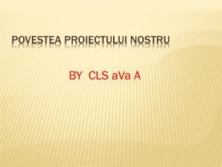 POVESTEA PROIECTULUI NOSTRU