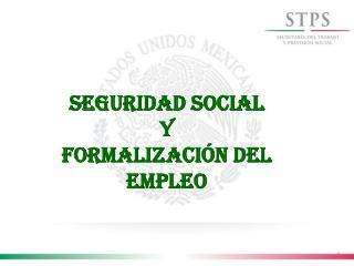 Seguridad Social  y  Formalización del empleo