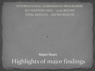 Highlights of major findings