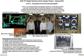 ECE 477 Digital Systems Senior Design Project    Spring 2010