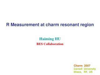 R Measurement at charm resonant region