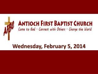 Wednesday, February 5, 2014