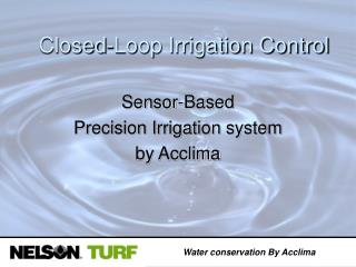 Water conservation By Acclima