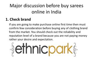Major discussion before buy sarees online in India