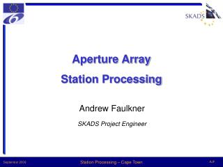 Aperture Array Station Processing