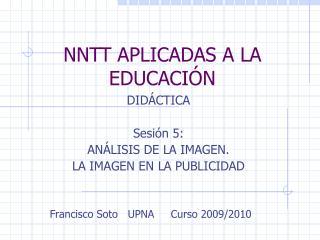 NNTT APLICADAS A LA EDUCACIÓN
