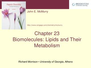 Biomolecules: Lipids and Their Metabolism