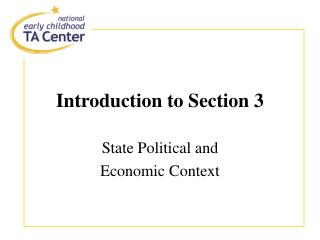 Introduction to Section 3