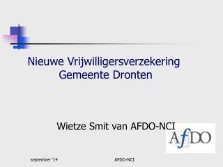 Nieuwe Vrijwilligersverzekering           Gemeente Dronten