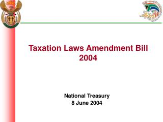 Taxation Laws Amendment Bill 2004