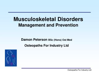 Damon Peterson BSc Hons Ost Med Osteopaths For Industry Ltd