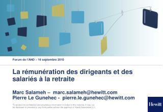 Forum de l'AND – 16 septembre 2010
