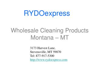 Wholesale Cleaning Products Montana ??? MT