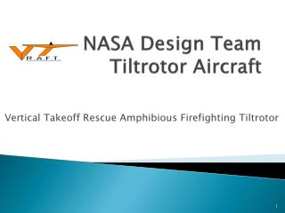 NASA Design Team Tiltrotor Aircraft