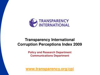 transparency/cpi