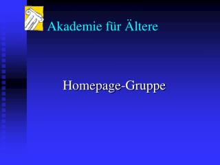 Homepage-Gruppe