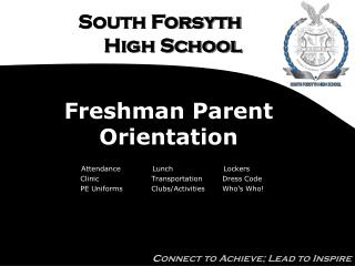 Freshman Parent Orientation