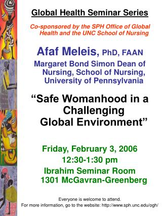 Global Health Seminar Series