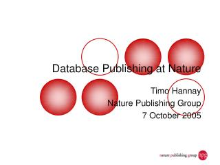 Database Publishing at Nature