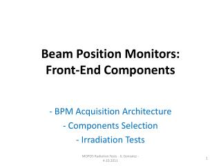 Beam Position Monitors: Front-End Components