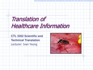 Translation of Healthcare Information