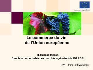 Le commerce du vin  de l'Union européenne