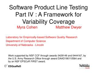 Software Product Line Testing Part IV : A Framework for Variability Coverage