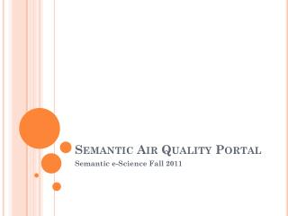 Semantic Air Quality Portal