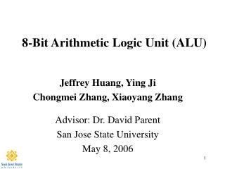 8-Bit Arithmetic Logic Unit ALU