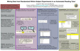 Mining Data from Randomized Within-Subject Experiments in an Automated Reading Tutor