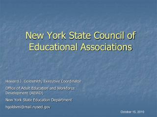 New York State Council of Educational Associations
