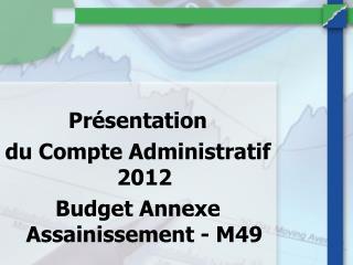 Présentation  du Compte Administratif 2012   Budget Annexe Assainissement - M49