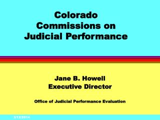 Colorado Commissions on  Judicial Performance