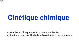 Cin�tique chimique