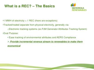 What is a REC? – The Basics