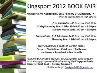Kingsport 2012 BOOK FAIR