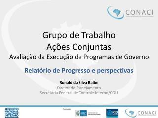 Grupo de Trabalho Ações Conjuntas Avaliação da Execução de Programas de Governo