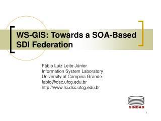 WS-GIS: Towards a SOA-Based SDI Federation